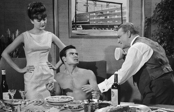 Pamela Tiffin, Horst Buchholz and James Cagney in One, Two, Three (Photo: Kino)