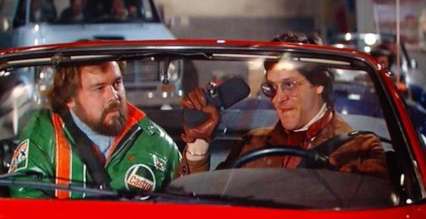 Tim McIntire and Raul Julia in The Gumball Rally (Photo: Warner)