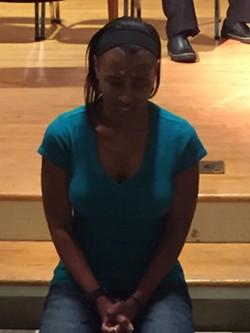 Aleshia Price at a Stuck rehearsal.