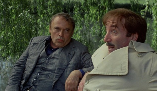 Herbert Lom and Peter Sellers in The Pink Panther Strikes Again (Photo: Shout! Factory & MGM)