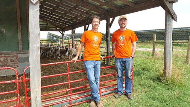 Sun Raised sales rep Brooks Mixon (left) and ground maintenance supervisor Brock Philips. (Photo by Alison Leininger)