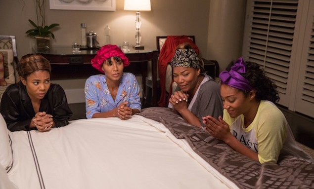 Regina Hall, Jada Pinkett Smith, Queen Latifah and Tiffany Haddish in Girls Trip (Photo: Universal)