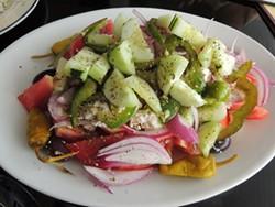 "The village ""xopiatikh"" salad is a good place to start."