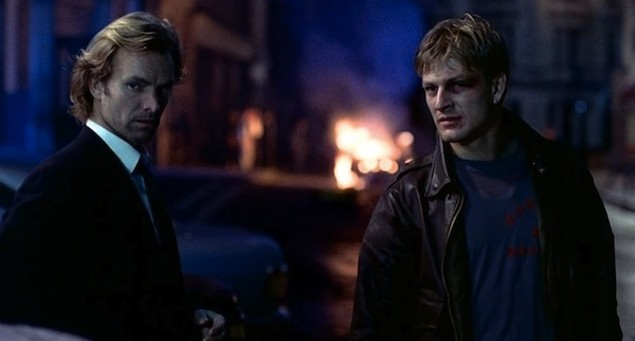 Sting and Sean Bean in Stormy Monday (Photo: Arrow)