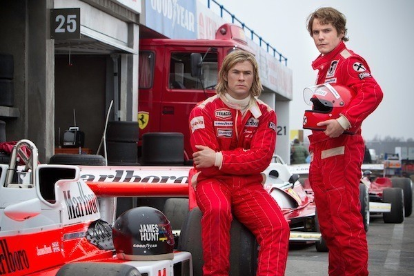 Chris Hemsworth and Daniel Bruhl in Rush (Photo: Universal)