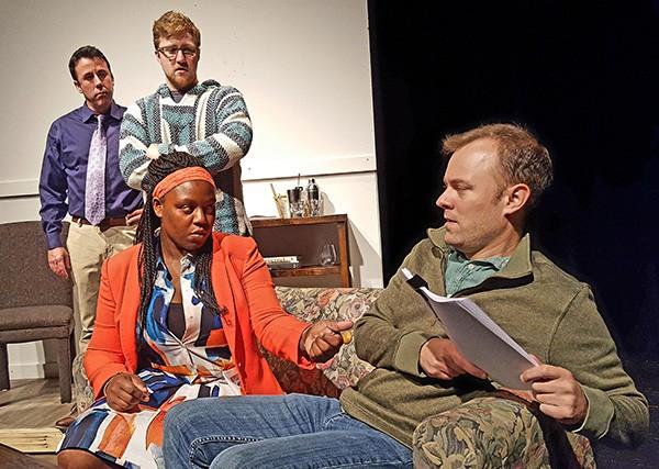 [From left] Dan Grogan, Daniel Henry, Lechetze D. Lewis, and Scott Miller in 'The Submission.'