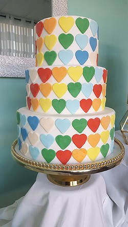 Perlmutter makes a heartfelt cake. (Photo by Alison Leininger)