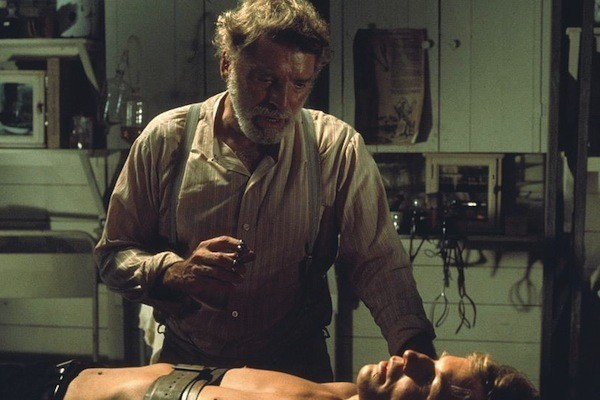 Burt Lancaster and Michael York in The Island of Dr. Moreau (Photo: Olive & MGM)