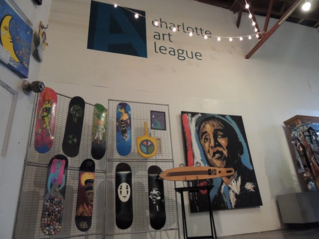 Inside the Charlotte Art League. (Photo by Ryan Pitkin)