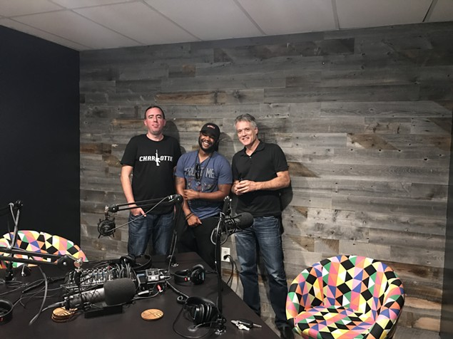 [From left] Ryan Pitkin, Mason Parker and Mark Kemp in the Hygge West studio.