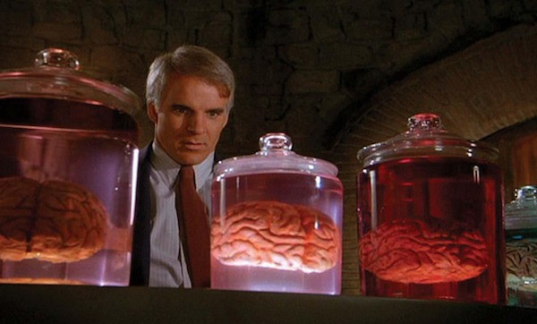 Steve Martin in The Man with Two Brains (Photo: Warner)