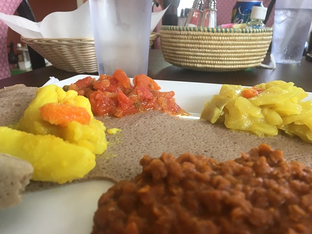Abugida's vegetable plate is the cafè's best seller.