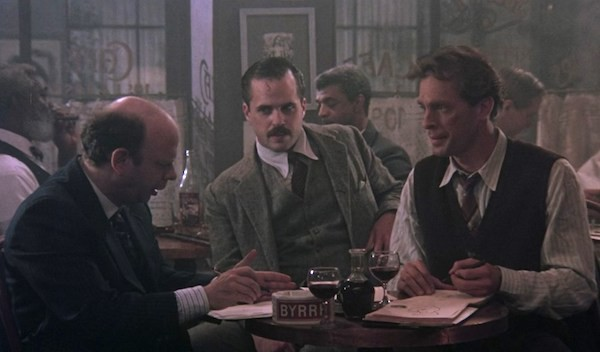 Wallace Shawn, Kevin J. O'Connor and Keith Carradine in The Moderns (Photo: Shout! Factory)