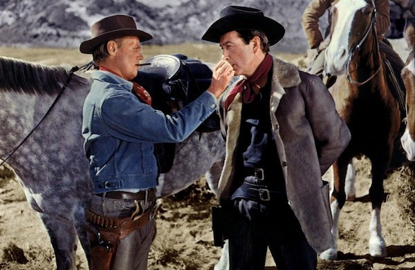 Richard Widmark and Robert Taylor in The Law and Jake Wade (Photo: Warner Archive Collection)