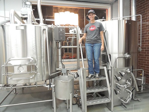 Carol Waggener behind the scenes at Bold Missy Brewery. (Photo by Ryan Pitkin)
