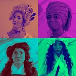 A revolutionary quartet [clockwise from top left]: Caroline Bower, Lydia Williamson, Shawnna Pledger and Sarah Woldum. (Photo by Seth Woodall)
