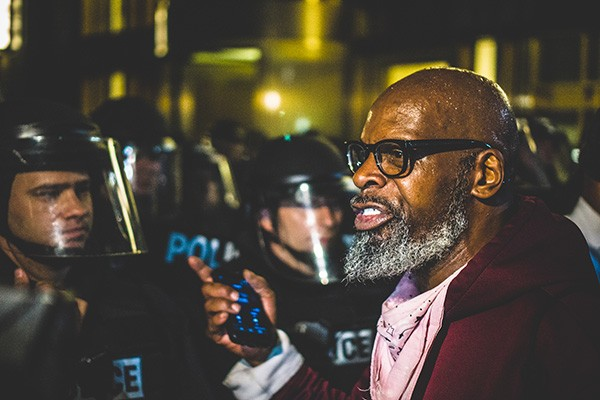 A photo Jacobs shot in Uptown Charlotte during the Charlotte Uprising.