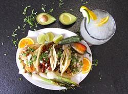 Tacos at Three Amigos]