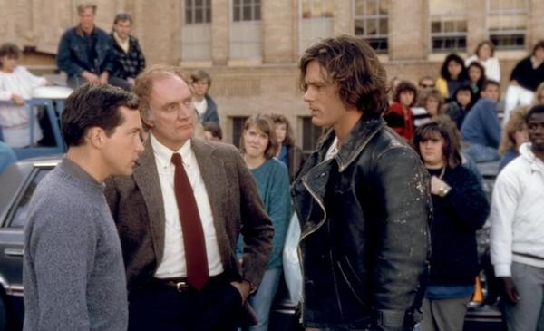 Casey Siemaszko, John P. Ryan and Richard Tyson in Three O'Clock High (Photo: Shout! Factory)