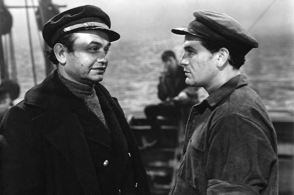 Edward G. Robinson and John Garfield in The Sea Wolf (Photo: Warner Bros.)