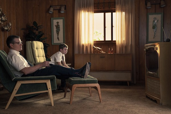 Matt Damon and Noah Jupe in Suburbicon (Photo: Paramount)