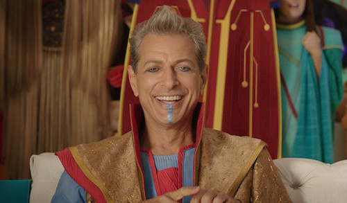 Jeff Goldblum, flashy as the Grandmaster (Photo: Marvel)