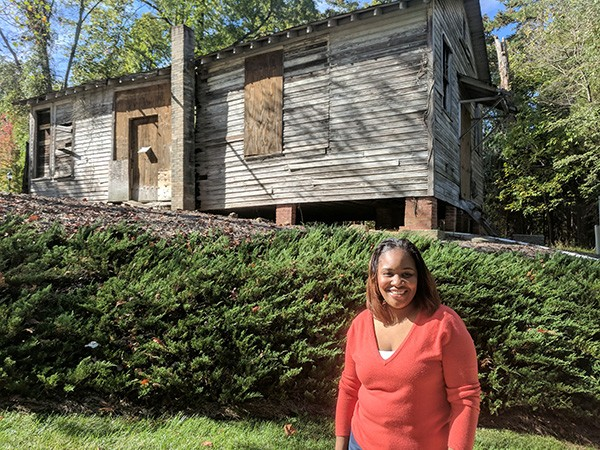 Lu-Ann Barry decided to get proactive in helping save the school after learning about it at the Charlotte Museum of History. (Photo by Ryan Pitkin)