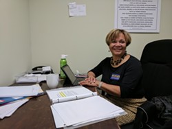 Vi Lyles in her campaign office a week before the election.