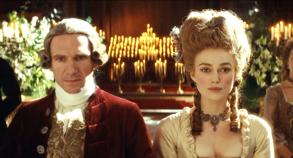 Ralph Fiennes and Keira Knightley in The Duchess (Photo: Paramount)