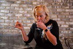 In her episode of 'DrinkOrder,' Colleen Hughes discusses how her quirky cocktails have a feminine touch. (Photo by Peter Taylor)