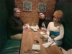 Gilreath (left) with Mike and Carly Astrea at Soul Gastrolounge. (Photo by Mark Kemp)