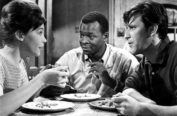Leslie Caron, Brock Peters and Tom Bell in The L-Shaped Room (Photo: Twilight Time)