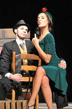 Killers in Love: Steven Buchanan as Clyde Barrow and Lindsey Schroeder as Bonnie Parker. (Photo by Debbi Ballard)
