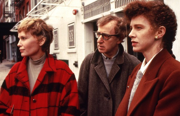 Mia Farrow, Woody Allen and Judy Davis in Husbands and Wives (Photo: Twilight Time)