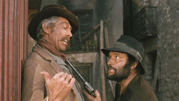 James Coburn and Rod Steiger in A Fistful of Dynamite (Photo: Kino & MGM)
