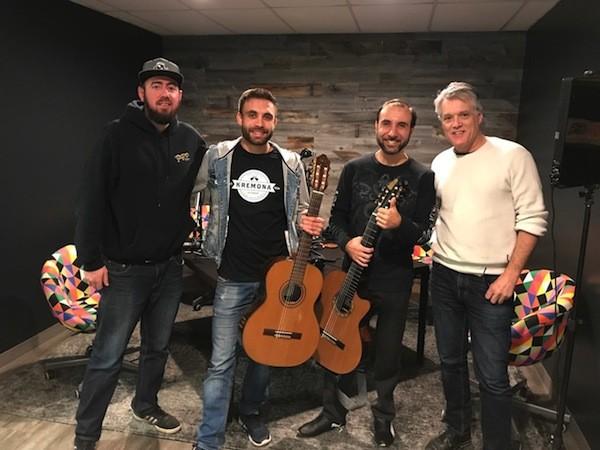 [From left] Ryan Pitkin, Sasha Kolpakov, Vadim Kolpakov and Mark Kemp.