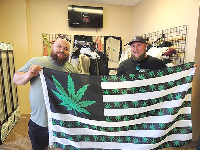 Sims and Hentschke go shopping for hemp-based products at CHC.