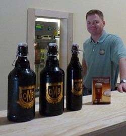 Dave Marrino around the time he opened Olde Mecklenburg Brewery in 2009. (Photo by Rhiannon Fionn)