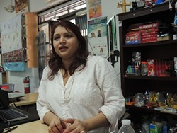 Meena Chamlagai, co-owner of Rohan Grocery.