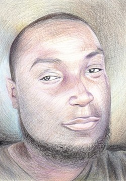 Portrait of Keith Lamont Scott by Beth Mussay.