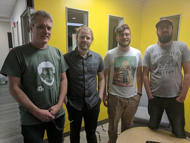 [From left] Mark Kemp, Ben Verner, Chris Walters and Ryan Pitkin.