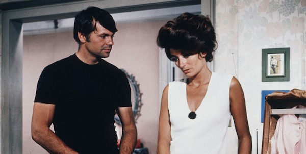Gary Lockwood and Anouk Aimee in Model Shop (Photo: Twilight Time)