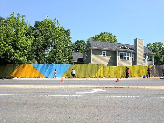 The Behailu mural will be along a stretch of fence donated by a neighbor.