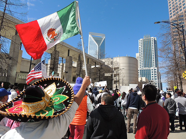 From the Day With No Immigrants march in February 2017. (Photo by Jasmin Herrera)