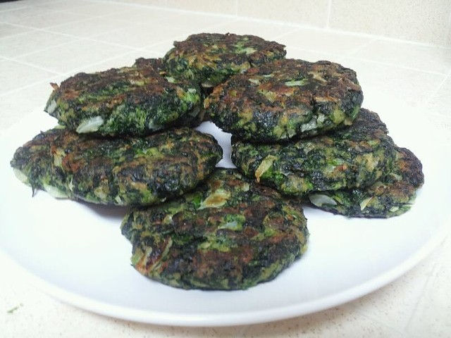 Spinach patties at Tropical Delights Jamaican Restaurant