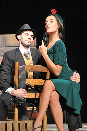 Steven Buchanan and Lindsey Schroeder in 'Bonnie & Clyde' (Photo by Debbi Ballard)