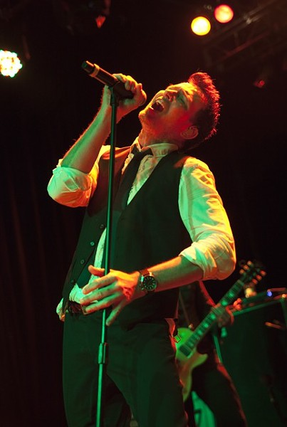 Scott Weiland at The Fillmore in 2013. - JEFF HAHNE
