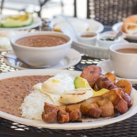 The Bandeja Paisa at El Cafetal is a faithful rendition of Colombia's national dish. (Photo by Brian Twitty)