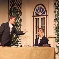 Jon Ecklund (John Worthing) and Lance Beilstein (Algernon Moncrieff) in The Importance of Being Earnest.