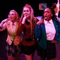 L-R: Ava Smith, Tessa Belongia and Nonye Obichere in QCTC's Heathers: The Musical. (Photo by George Hendricks)